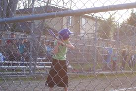 Samantha at Bat
