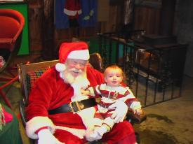 Fin with Santa