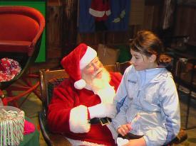 Sam with Santa