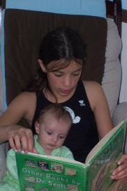 Finley and Samantha Reading (2 Months)