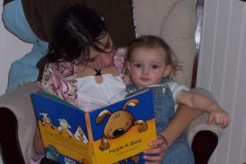 Finley and Sam Reading (8 months)