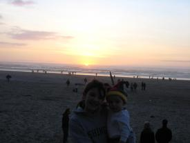 Finley and Samantha at Sunset