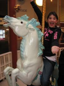 Samantha on the Carousel