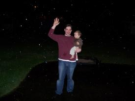 Finley and Daddy in the Snow