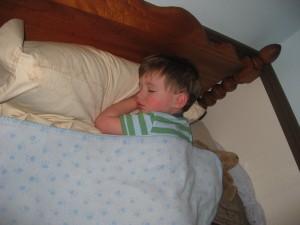 Finley sleeping.