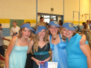 Samantha and her friends after the cermony