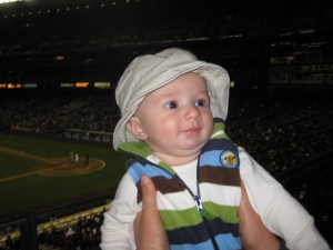 Declan at his first game