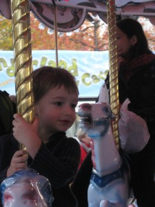 Finley on the Carousel