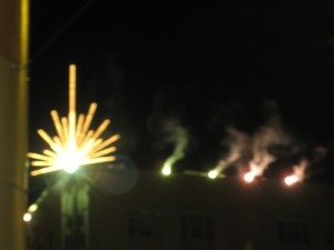 The Macy's Star with Fireworks