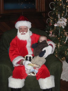 Declan with Santa