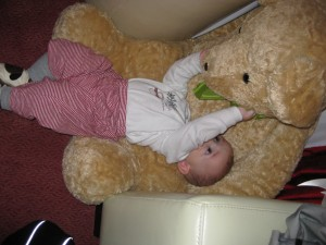 Declan with a bear