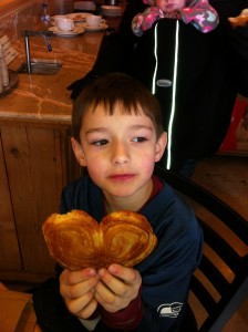 Enjoying a Palmier after the symphony