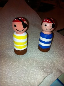 Mommy went away for the weekend and made these for Finley and Declan.