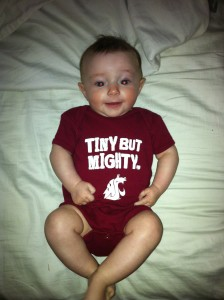 Tiny Cougar fan.  Thanks Uncle John.