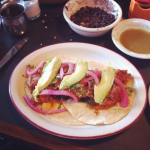 Tacos at one of the most amazing places ~ Fonda la Catrina