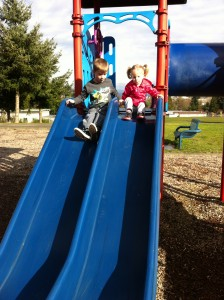 Park fun with Elsie