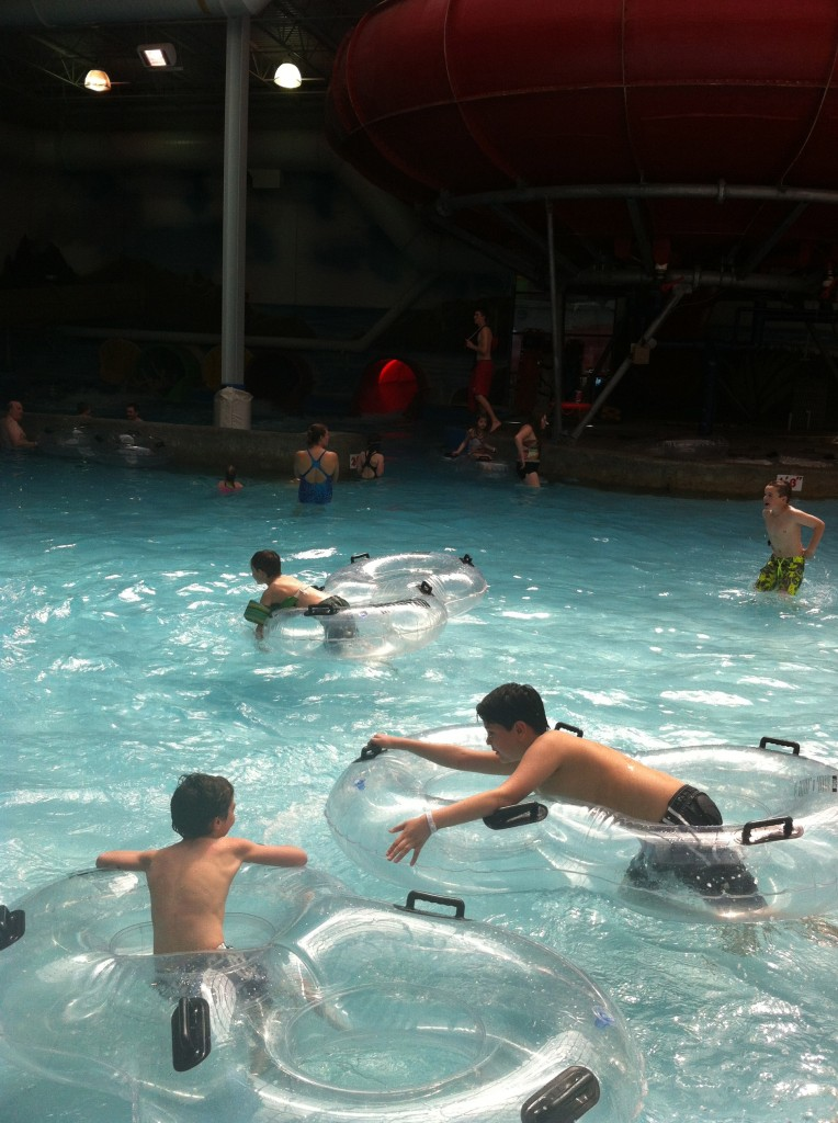 Fun at Triple Play in Hayden.  Indoor water park and arcade.  We also got to play mini golf outside.