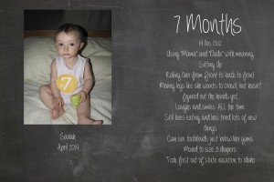 Saviah 7 Months Birth Stats